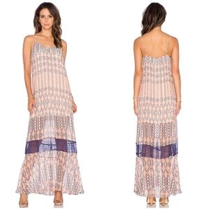BCBGen Maxi Dress Pleated with Lace Detail